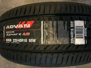 Yokohama Advan Sport A S P225 45r18 95w 225 45 18 New All Season Tire Free Ship