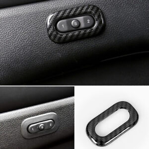 Carbon Fiber Seat Switch Button Adjust Cover Trim For Grand Cherokee 2011 2020