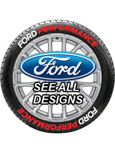 8 X Tyre Stickers P s Temporary White red Ford Performance 1 5 For 14 16 Wheels