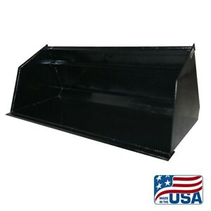 New 72 Skid Steer Bulk Material Bucket snow Bucket mulch bobcat etc