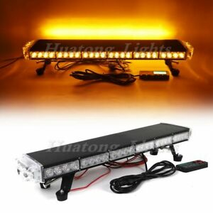 29 Amber 54 Led Emergency Warning Beacon Tow Snow Plow Truck Strobe Light Bar