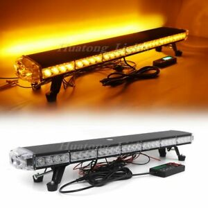 33 Amber 62 Led Emergency Warning Beacon Tow Snow Plow Truck Strobe Light Bar