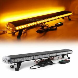 38 Amber 70 Led Emergency Warning Beacon Tow Snow Plow Truck Strobe Light Bar