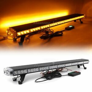 42 Amber 78 Led Emergency Warning Beacon Tow Snow Plow Truck Strobe Light Bar