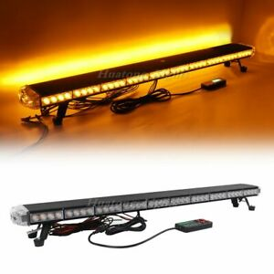 47 Amber 86 Led Emergency Warning Beacon Tow Snow Plow Truck Strobe Light Bar