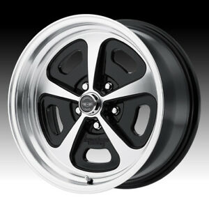 American Racing Vn501 500 Mono Cast Machined Black 17x7 5x4 5 0mm Vn50177012500