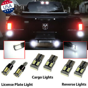 6x Backup high Mount license Plate Light Bulbs Combo Led For Dodge Ram 1500 2500
