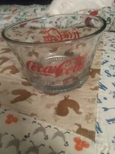 Bowl Vintage Coca Cola Glass Ice Bucket fruit Dish