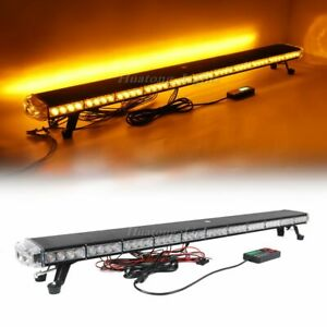 50 Amber 94 Led Emergency Warning Beacon Tow Snow Plow Truck Strobe Light Bar