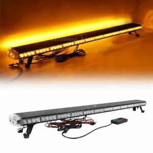 55 Amber 102 Led Emergency Warning Beacon Tow Snow Plow Truck Strobe Light Bar