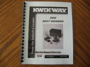 Kwik Way Sgh Valve Seat Grinder Set Manual