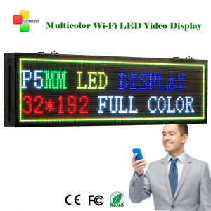 Leadleds Wifi Program Led Sign P5mm 32 192dots 7 Color Display Message Board