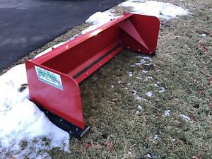 6ft Snow Box pusher Skid Steer Attachment Used Only 5 Times