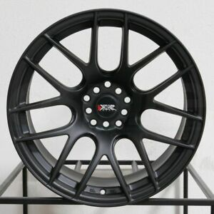 4 New 17 Xxr 530 Wheels 17x8 25 5x100 5x114 3 35 Flat Black Rims