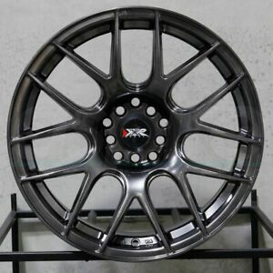 4 new 16 Xxr 530 Wheels 16x8 25 4x100 4x114 3 0 Chromium Black Rims