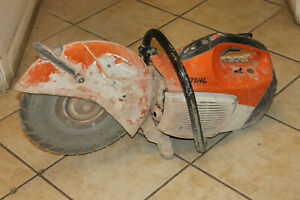 Stihl Ts 420 14 Concrete Cut off Saw With Water Line