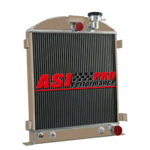3row Aluminum Radiator For 1939 1940 Chevy engine Ford grill shells 3 At mt Pro