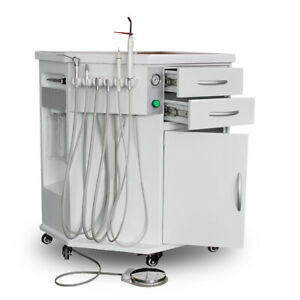 600w Dental Delivery System Cart Unit 4h With Compressor curing Light scaler