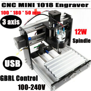 1018 Cnc Router Mini Engraving Milling Machine Engraver Pcb Metal Desktop Diy