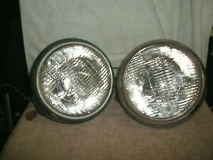 2 Vintage Guide Head Lamp 903 j Headlight Hot Rat Rod Ford Chevy 1930 s 1950 s