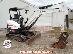 2017 Bobcat E32 Mini Excavator Orops 2 Speed Aux Hydraulics Keyless Start