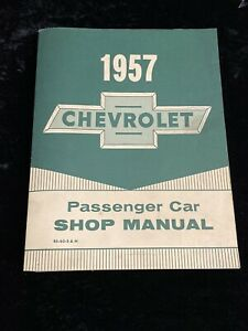 1957 Official Gm Chevy Chevrolet Passenger Car Shop Manual Minty