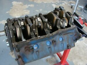 Used Ford 351 Windsor Short Block D4ae 6015 aa 11 With Rotating Assembly
