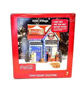 Coca-Cola Christmas Town Square Collection Flying A Service Station Village