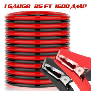 1 Gauge 800 A Car Jump Start Quick Connect Clamps W jumper Battery Cables