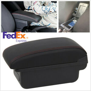 Universal Single Layer Flat Style Pu Leather Car Central Content Armrest Box us