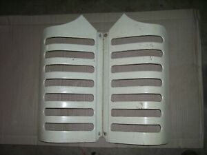 Original Oliver 55 Gas Tractor Grille Panel Set Nice Pieces 1958