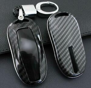 1pc Car Remote Key Case Fob Cover Keychain Shell For Tesla Model 3 Model S Hot