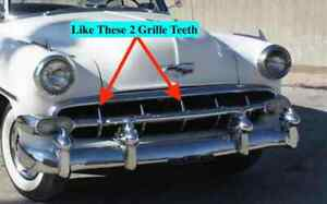 Chevrolet 1954 Grille Teeth Center And Far Right All Passenger Cars 10