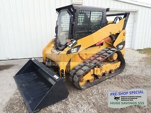 2013 Caterpillar 259b3 Track Loader Erops Heat ac Aux Hyd 838 Hours 2 Spd 75 Hp