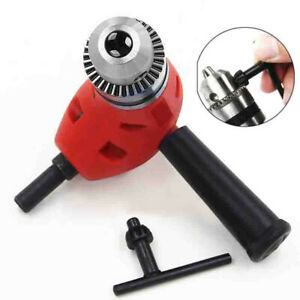 Electric Right Angle Drill Extension Attachment Chuck Adapter 3 8 90 Degree Red