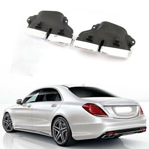 25cm Exhaust Tips Muffler Ends Fit For Mercedes Benz W204 W205 W207 W212 W218