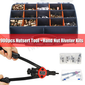 Us 900pcs Nutsert Tool Kit M3 m8 Stainless Steel Hand Riveter Rivnut Nut Insert