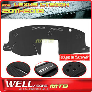 Black Dash Mat For Lexus 2011 2013 Ct200h Wellvisors Dashboard Cover