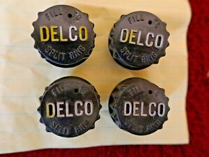 Chevy camaro buick chevelle Used Original Delco Black Battery Caps 4