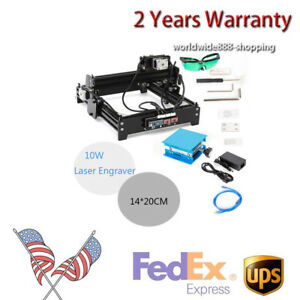 Usb 10w 1420 Desktop Laser Engraving Machine Cnc Router Engraving Leather Usa
