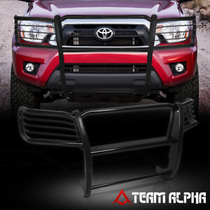 Fits 2005 2015 Tacoma Black Mild Steel 1 5 front Bumper Grille brush Guard grill