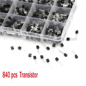 840pcs 24 Types Power Transistors Assortment Component Kit With Box Npn Pnp