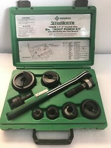 Greenlee 7238sb Knock Out Punch Set 1 2 To 2 Conduit Slug Buster