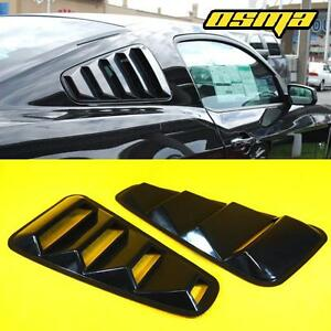 For 05 14 Mustang Coupe Gt Retro Black 1 4 Side Vent Window Louvers Pair Vent