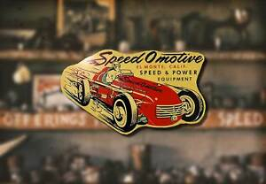 Vintage Speed O Motive Decal Hot Rod Rat Flathead Ford Sticker Drag Race Intake