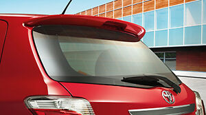 Mit Toyota Yaris Hatchback Oe Style Abs Plastic Rear Roof Spoiler Color Painted