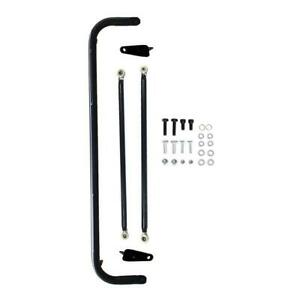 49 Stainless Steel Racing Safety Seat Belt Roll Harness Bar Rod Universal Black