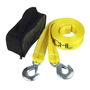 Jchl Nylon Tow Strap With Hooks 2 x20 Car Vehicle Heavy Duty Recovery Rope Lbs
