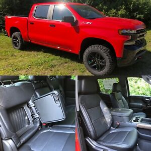 2019 2020 Silverado Crew Cab Lt Katzkin Leather Seat Covers Black Rst Trail Boss