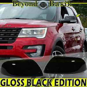 2016 2017 2018 2019 Ford Explorer Gloss Black Mirror Covers Cover Top Upper Half